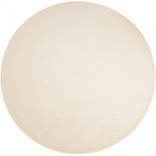 havatex Teppich Kräusel Velour Burbon rund - 16 Moderne sowie Klassische Farben | schadstoffgeprüft pflegeleicht & robust | ideal für Wohnzimmer, Farbe:Aquamarin, Größe:240 cm rund