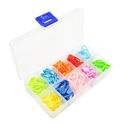 Healifty 120 Stück Punktmarkierer Crochet Knitting Stitch Nadelzähler Clip Pin mit Aufbewahrungsbox