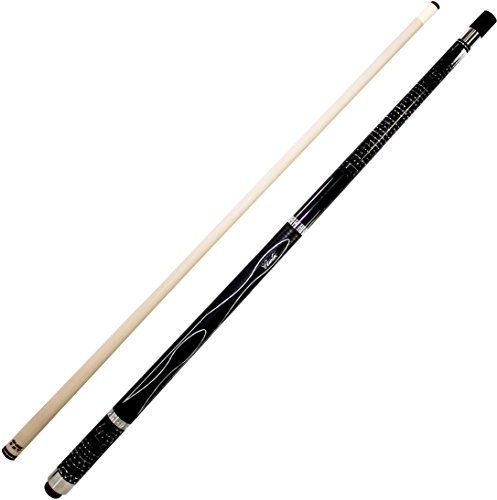Cuetec Gen-Tek Series 58 2-Piece Canadian Maple Billiard/Pool Cue, Black by Cuetec
