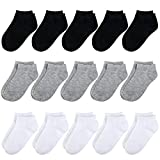 BOOPH Kids Socks for Boys Girls Low Cut Athletic Ankle Socks 4-6 Years Multi01