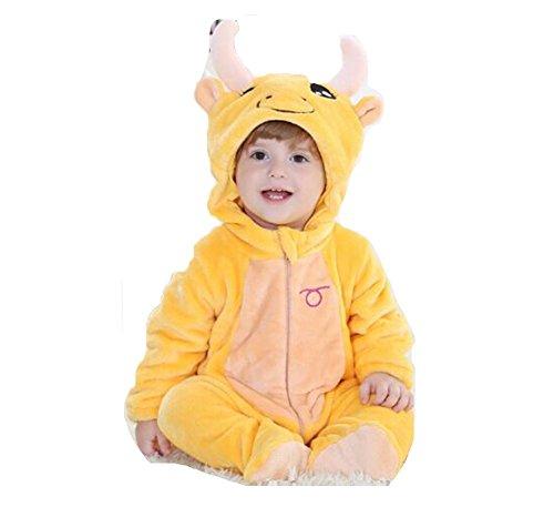 OHmais Bébé Fille garçon Unisexe Grenouillère Costume Deguisement Combinaison Pyjamas Hiver Taureau