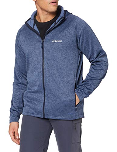 Berghaus Herren Spitzer Interaktive Fleece-Jacke mit Kapuze XL blau