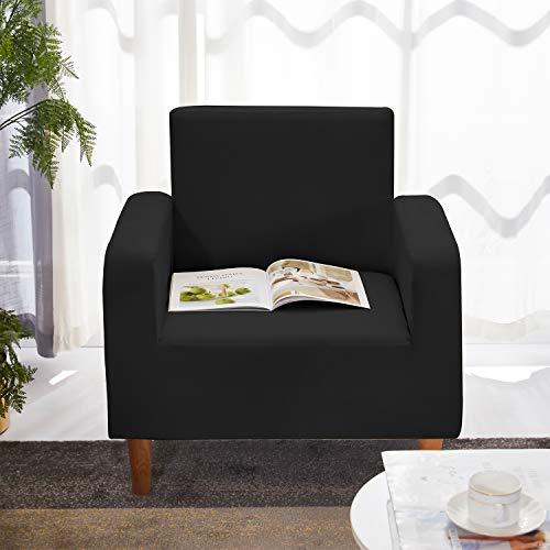 WedDecor Liso Y Estampado Poliéster Spandex Sofá Fundas - Negro, Chair