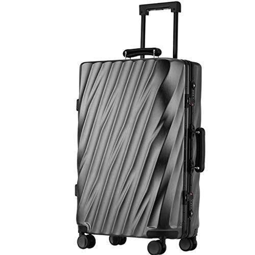 Lyl Maleta Masculino Marea Versión coreana de la contraseña Personalidad Travel Box Caster puede sentarse Personas Aluminio Frame equipaje Trolley case Mujer, Gray (Gris) - yh5436