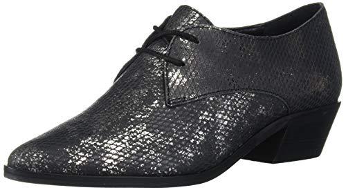 Lucky Brand Women's LK-ERREKA Loafer, Pewter/Black, 9.5 M US