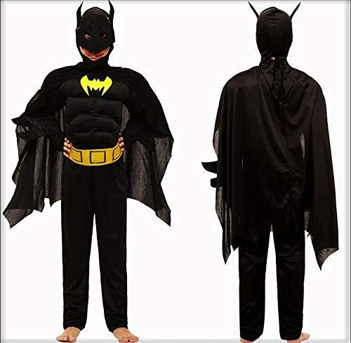 Disfraz de superhroe Halloween Cosplay (Altura 115 cm-125 cm) Batman Clsico