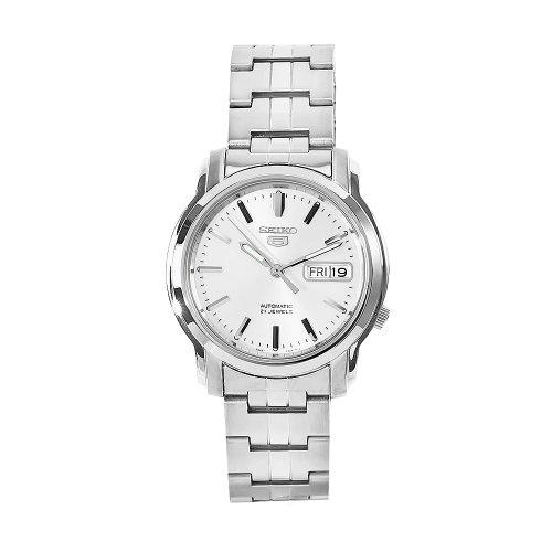 Seiko Unisex Erwachsene Analog Automatik Uhr mit Edelstahl Armband SNKK65K1