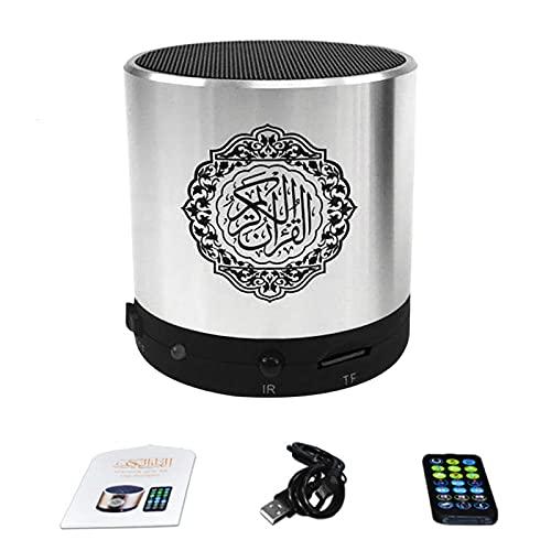 GEZICHTA Quran Speaker Remote Control Quran Speaker USB Rechargeable Digital Bluetooth Quran Speaker MP3 Player 8GB TF FM Quran Koran Translator in Many Languages