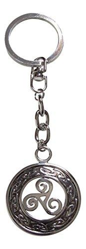 Llavero con forma de medallón, diseño de trisquel, estilo...