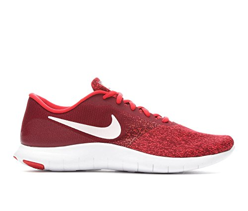 Nike Men's Flex Contact Running Shoe (9 M US, Team Red/White-Red)