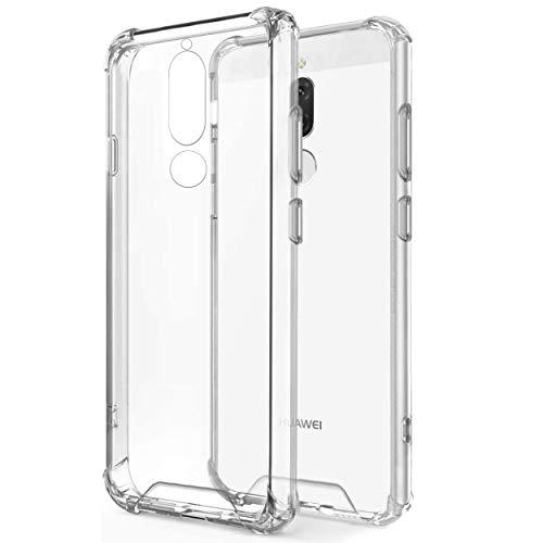NewTop Cover Compatibile per Huawei Mate 10 Lite, Posteriore Semi Rigida TPU Hard Clear Anti-Shock Custodia Retro Antiurto Trasparente Angoli Rinforzati (per Mate 10 Lite)