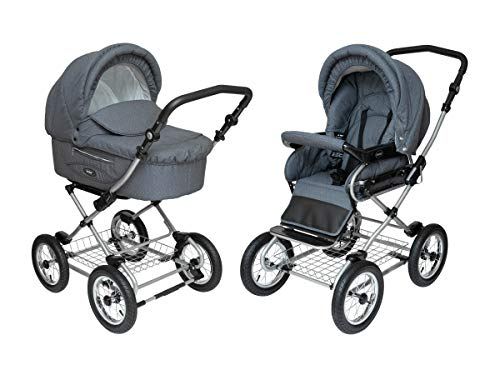 Read About Roan Kortina Classic 2-in-1 Pram Stroller with Bassinet for Newborn Baby and Toddler Recl...