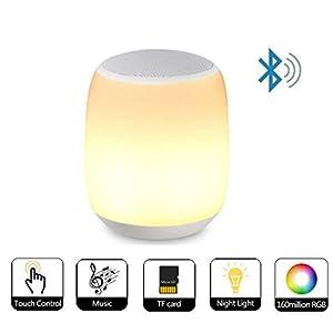 Hangang lámpara de mesilla Touch Control con llamadas manos libres inalámbrico lámpara musical inteligente, smart led Touch Sensor Lámpara de mesa regulable luz multicolor