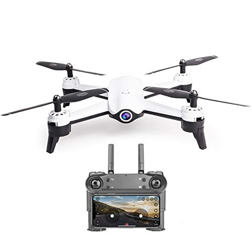 GYZLZZB Adult Remote Control Drone, 4K Dual Camera HD Live Camera Drone, Suitable for Beginners, with Mobile APP Control, Gesture Control, Height Maintenance, Headless Mode, 3D VR Experience