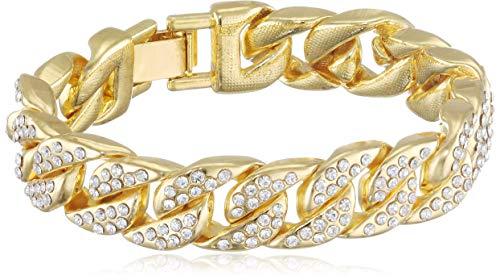 Urban Classics Unisex Big Bracelet With Stones Kragenknopf, Gold 00109, Small (Herstellergröße: S/M)