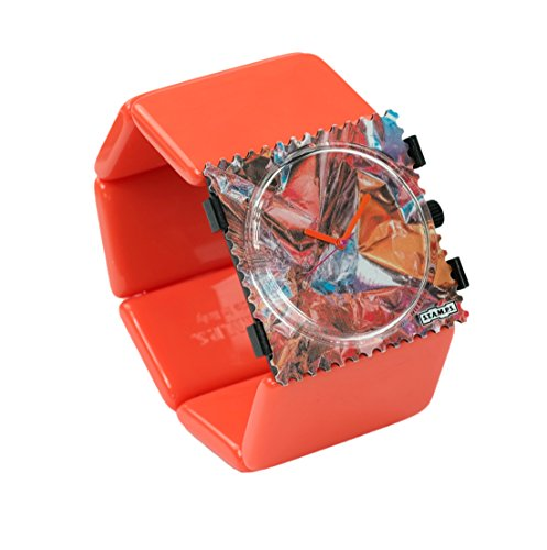 S.T.A.M.P.S. Stamps Uhr KOMPLETT - Zifferblatt Bonbon mit Belta Classic Orange