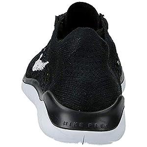 Nike Womens Free RN Flyknit 2018 Running Athletic, Black/White (Black Upper), 9