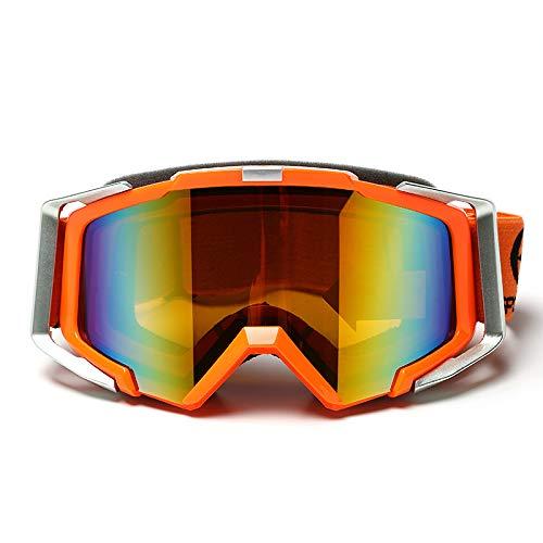 YUXINXIN Dubbele anti-mist skibril motorrijder mannen vrouwen uitrusting cross-country bril paardrijden outdoor bril* ORANJE