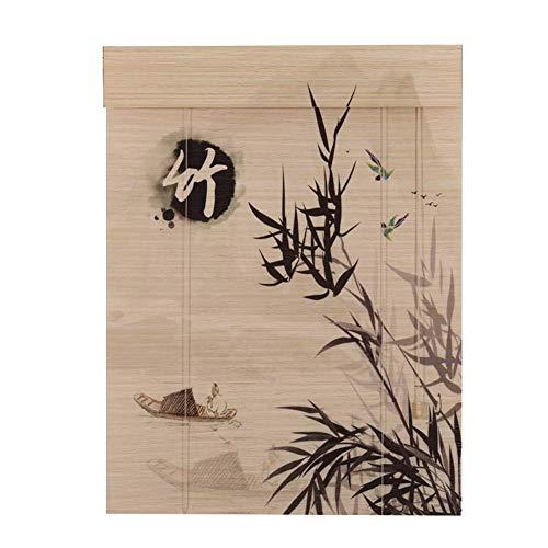 AJZXHE Cortina de Bambu Persianas orientables de bambú de Muebles orientales Cortina de bambú (PATRÓN : C, Tamaño : 135x230cm)