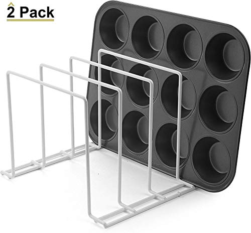 Stock Your Home Large Rust-Free Durable Coated Steel Bakeware Organizer