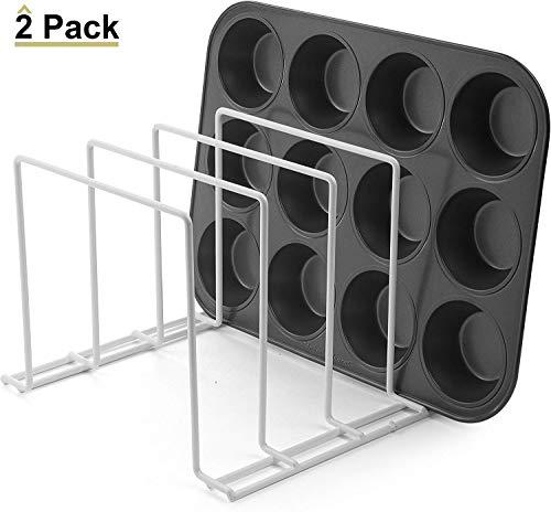 Mejor Rev-A-Shelf 597-18CR-52 18-Inch Bakeware Baking Sheet Tray Divider Kitchen Organizer, Chrome crítica 2020