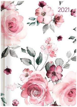 Ladytimer Roses - Taschenkalender A6 - Kalender 2021 - Alpha Edition-Verlag - Eine Woche auf 2 Seiten - Buchplaner mit Lesebändchen und Platz für Notizen - Format 11 cm x 14,8 cm