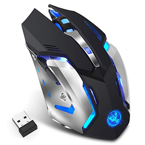 Widewing HXSJ M10 2.4GHz Wireless Gaming Mouse Rechargeable Backlight Mice Black