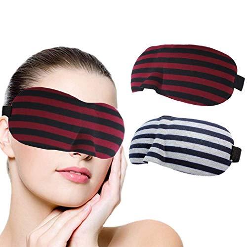 Augenblinder Schlaf Augenmaske Schlafmaske 3D Konturierte Augenmaske rote Streifen Konturierte Schlafmasken Nacht schlafende Augenabdeckung Komfort blockieren leichte auge abdeckung für frauen und män