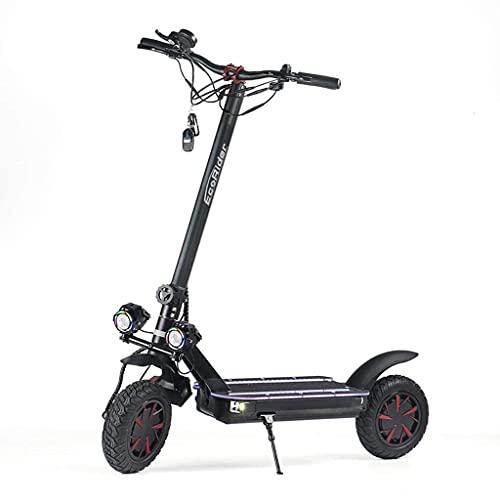 CCLLA Bicicletas de montaña Off-Road Scooter eléctrico de Dos Ruedas Patinete Plegable...
