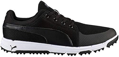 New Mens Puma Grip Sport Tech Golf Shoes Puma Black/White Sz 13 M - Ret $100