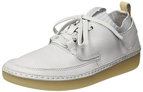 Clarks Damen Nature IV. Sneaker, Blau (Ice Blue Leather), 38 EU