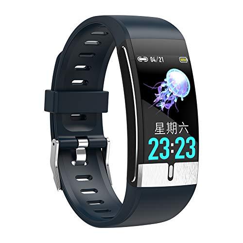 chebao, Reloj de seguimiento de actividad impermeable, E66 Smart Band pulsera PPG ECG Monitor de frecuencia cardíaca de temperatura corporal (azul)