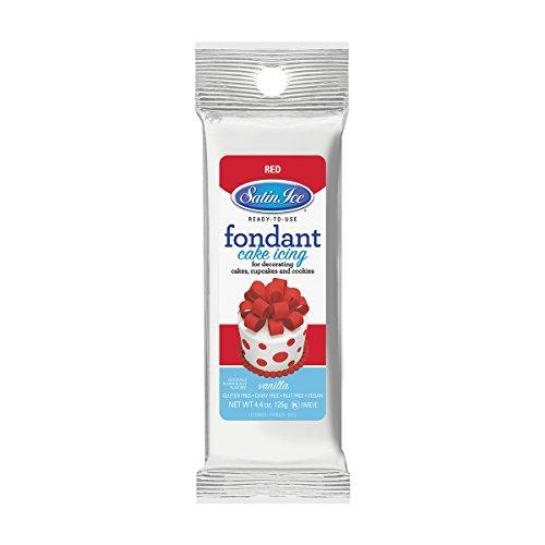 Satin Ice Red Fondant, Vanilla, 4.4 Ounces