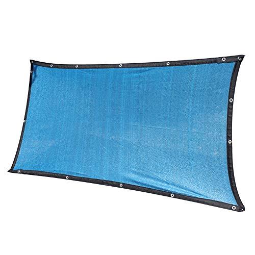 YUDEYU Red De Sombra Cifrado Protección Solar/Aislamiento Sarga De 12 Agujas Sombreado Dedicado (Color : Blue, Size : 3mx6m)