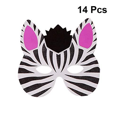 Amosfun 14 stuks schuimmaskers voor kinderen, dierengezichtsmaskers voor Halloween, party, maskerade, dansfeest
