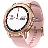 Smart Watch for Women Men,Fitness Tracker with Heart Rate,Blood Pressure,Blood Oxygen,IP67 Waterproof Pedometer Smartwatch with Sleep Tracker,Steps,Music,Weather Forecast for Android iPhone(Pink)