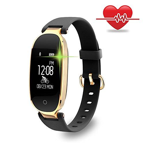 WOWGO Fitness Tracker, Women Sport Tracker Smart Watch Band Bracelet, Heart Rate Monitor Smart Bracelet,Wristband Watch with Health Sleep Activity Tracker Pedometer for Smart Phone