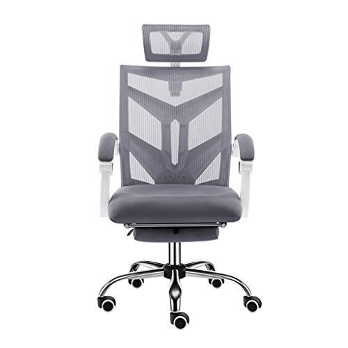 H014ZJ Ergonomische gaming-bureaustoel, in hoogte verstelbaar, voor kinderen en volwassenen, grijs