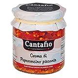 Cantafio Gourmet Crema di Peperoncino piccante sott'olio vaso da 280gr