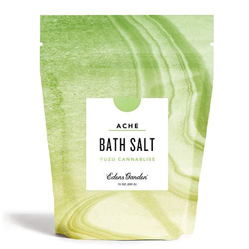 Edens Garden Yuzu & Cannabliss Mineral Bath Salt (Made With Essential Oils, Epsom & Celtic Sea Salt - Great For Detox, Sleep, Immunity, Relaxation, Pain), 10 oz