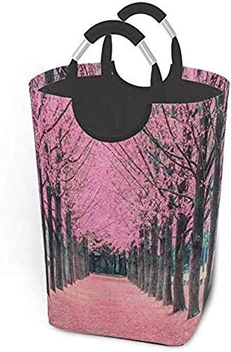 XCNGG Cesta de lavandería Plegable con árbol de Flor de Cerezo Rosa, Bolso Grande para Dormitorio, baño, guardería de bebé, Organizador de Juguetes