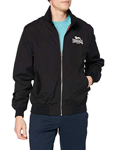 Lonsdale London Harrington Giacca da uomo, Nero, Large