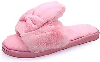 Women Fashion Big Fur Pompom Fashion Open Toe Slipper