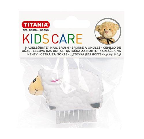 Titania enfants Brosse à ongles, 6 animaux différents motifs assortis, dans un sac en onglets, 1er Pack (1 x 27 g)