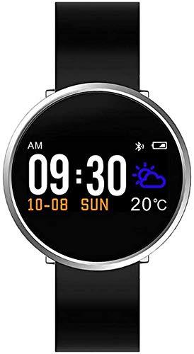 NMQQ Smart Watch 0.96In Heimtrainer Schwimmen Pedometer Uhren für Herren-Digitaluhr Smartwatch Laufen kann die Herzfrequenz beobachten ist Android iOS-Version,0.96in,Weiß