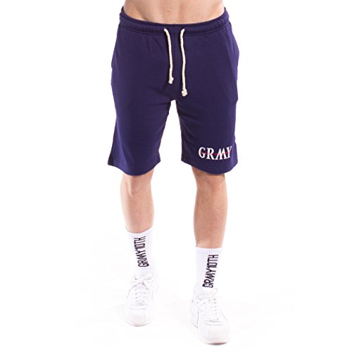 GRIMEY Bermuda Mist Blues Sweatshorts SS17 Navy-XL