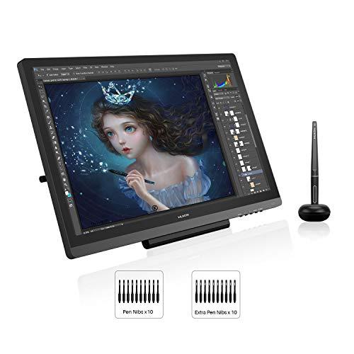 HUION KAMVAS 20 Pen Display-19.53 Pulgadas. Tableta de Dibujo de gráficos de Vidrio antirreflejo con 120% sRGB y función de inclinación Stylus 8192 sin batería. Presión del lápiz y Soporte Ajustable