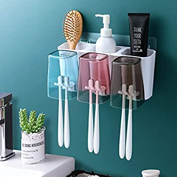 Goowin Wall Mounted Large Capacity Toothbrush Holder