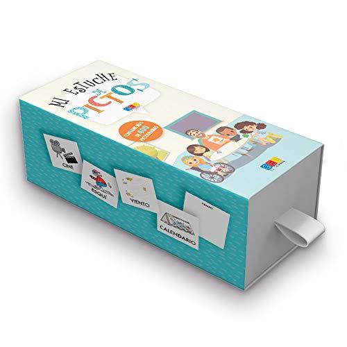 Mi estuche de pictos / Editorial GEU / 400 tarjetas con pictogramas / Recomendado para facilitar la comunicación del niño/a / Tarjetas plastificadas