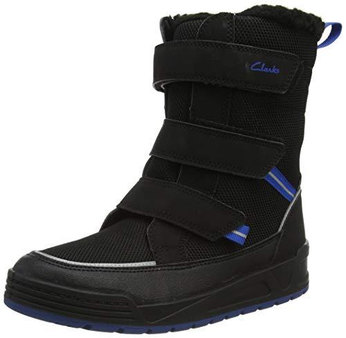 Clarks Boy's Jumper Three K Chukka Boot, Black, 12 us Little Kid